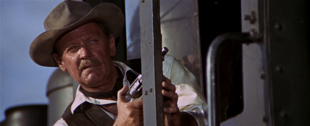 William Holden as the protagonist of the dying breed.
