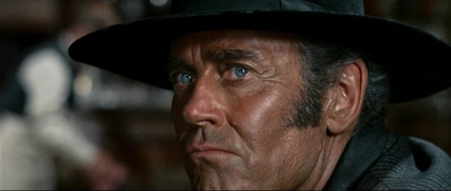 Henry Fonda's blue eyes hide one of the most terrifying villains in the history of movies.